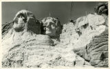 Keystone - Workers on Mount Rushmore;Keystone - 13000 Highway 244;Keystone - Work on Lincoln