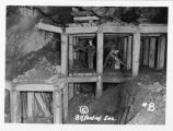 Lead - Mining in a Timber Stope;Lead - Homestake Mine;