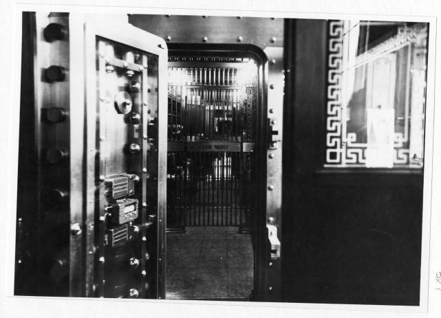 Cash Vault in First National Bank, 107 East Kemp Avenue