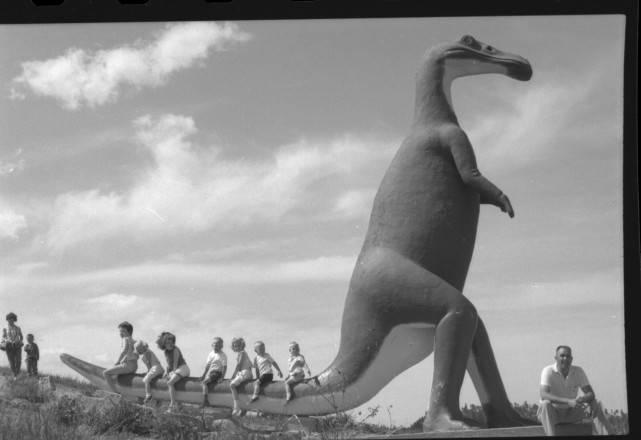 Anatotitan In Dinosaur Park 940 Skyline Drive Rapid City Sd Pennington County South Dakota Historical Photos South Dakota Digital Archives